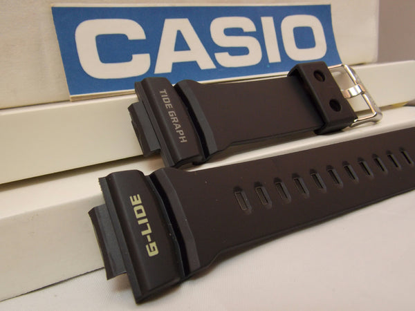 Casio watchband GLX-150 -1 G-Lide Tide Graph Black Rubber . Watchband