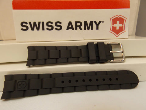 Swiss Army watchband Maverick Ladies GS Swiss Made Gen. Blk Rubber  w/Pin
