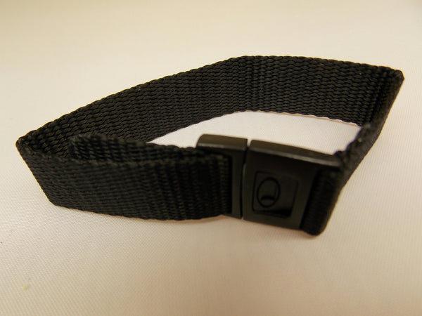 Freestyle watchband 16mm Sport Band Blk One Piece Clip Bkle Washable/Adjustable