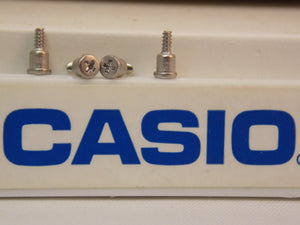 Casio Watch Parts W-96 Screws (4). Four Attaching Band/Screws. Stainless Steel.