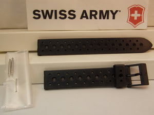 Swiss Army watchband Renegade Ladies 15mm Black Rubber/Resin Sport Band