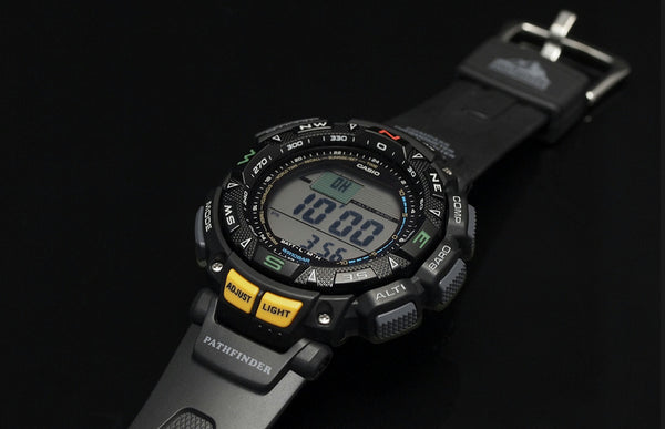Casio PAG-240-1 Tripl Sensor Solar Watch.Altimeter,Barometer,Thermometer,Compass