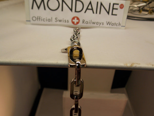 Mondaine Watch Charm Bracelet Stainless Steel Attach Your Favorite Trinket/Watch