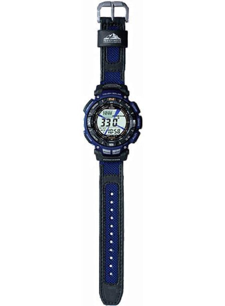 Casio watchband PAG-240 B-2 Patfinder . Blue/Black Watchband.