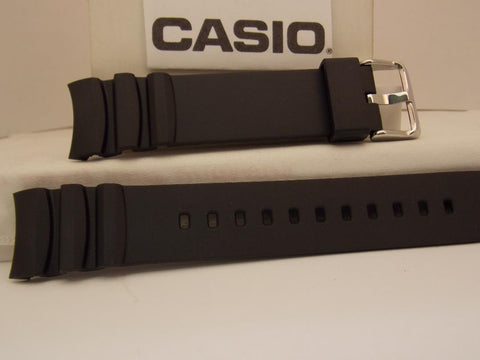 Casio Watch Band MTD-1080 Black Resin Watchband. Strap