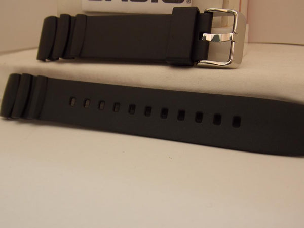 Casio watchband MTD-1080 Black Resin Watchband.
