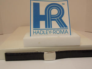Hadley Roma Watchband A: 12mm Ladies Blk Genuine Lizard  w/Butterfly Fold Buckle