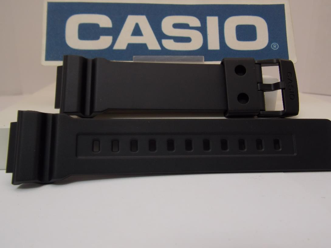 Casio watchband AD-S800 Black Resin .Watchband/Tough Solar Digital Analog