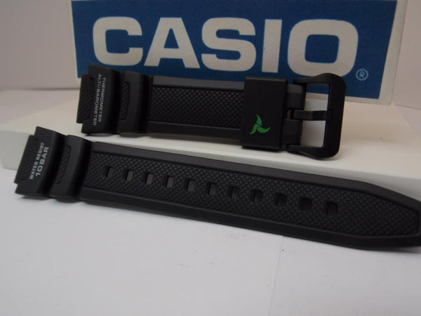 Casio watchband SGW-450 H-1A Blk Resin  w/Grn Wht. For Altimeter Barometer