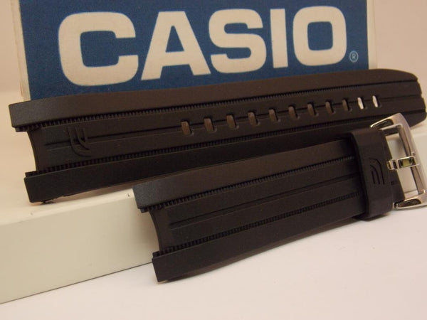 Casio watchband ERA-100 Black Resin /Edifice Tachymeter ERA100. Watchband