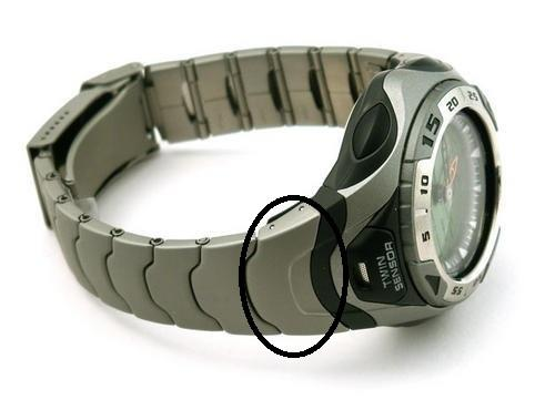 Casio Watch Parts SPF-60 D. Pair Metal Band Caps With Spring Bars