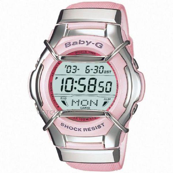 Casio watchband MSG-135 L. Pink  With Polished Silver Color End Caps