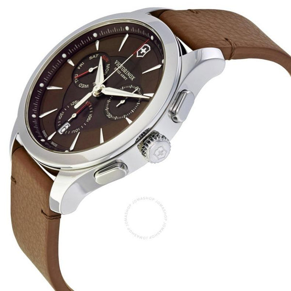 Swiss Army watchband 005369 Brown Leather /Watchband Alliance Chronograph