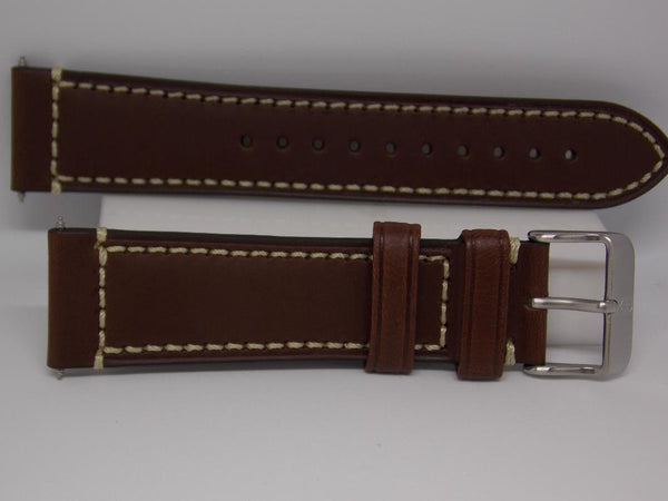 Swiss Army Watchband 004446 Brown Leather 22mm Strap/Watchband. Air Boss Mech.