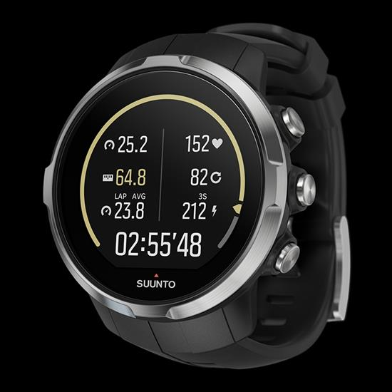 Suunto watchband For Model Spartan. Original Sport Black Silicone Rubber
