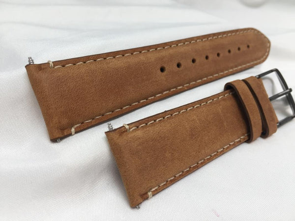 Wenger watchband 22mm Wide 4.5mm Thick Tan Leather  for Model 01.1041.134