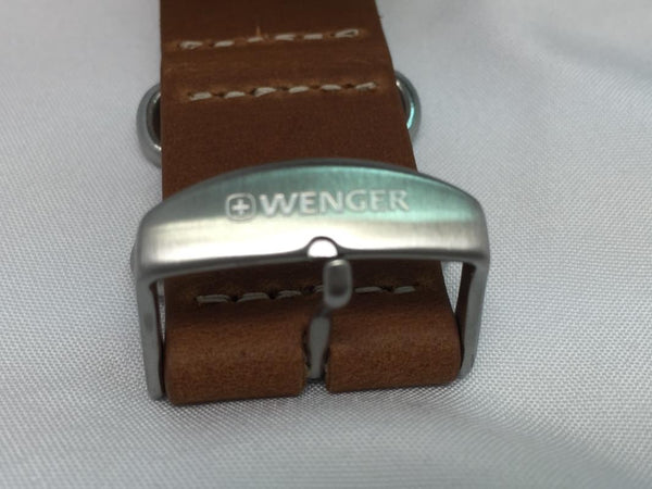 Wenger watchband 22mm Brown One Piece Wrap Around Leather  for 01.1041.13