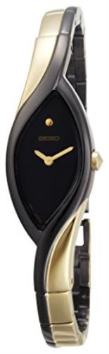 Seiko Original WatchBand SZZC54, 4A801.D.I. Bracelet Womens Black/Gold Tone