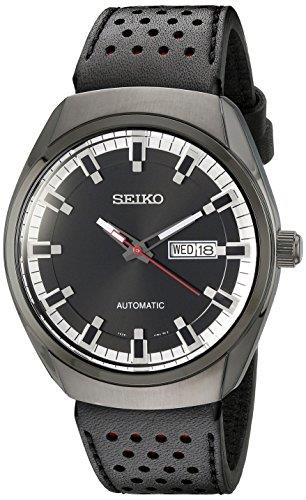 Seiko Original WatchBand SNKN45. LODP Z 22. 22mm Black/Red Leather  W/Pins.