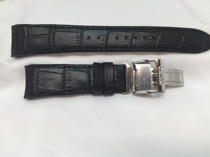 Seiko Original WatchBand Model SNE397 Band# LOAC B 21 Leather Outline Stitched