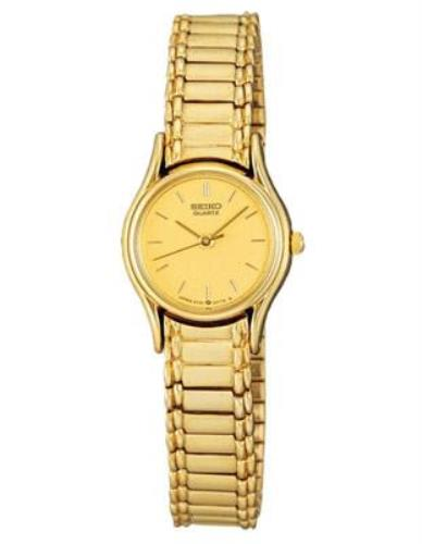 Seiko WatchBand SSG238,S318V.Ladies 10mm Stretch Gold Tone 1N01-0E19, 2Y01-0A19