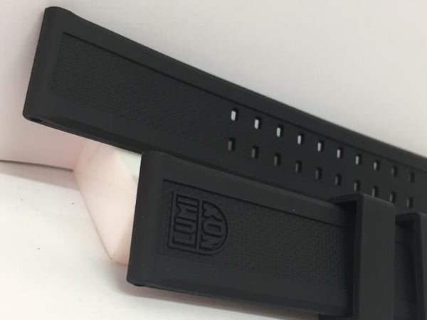 Luminox Watchband Model 3050. 22mm Black Rubber  w/Logo on Band and Buckle.