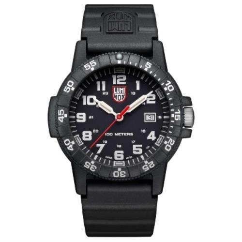 Luminox Watchband FP2201.Original 22mm Black Silicone Rubber .For 0301