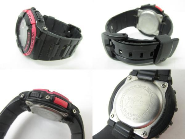Casio watchband BGD-120,BGD-121, BLX-100 Shiny Black Watchband.
