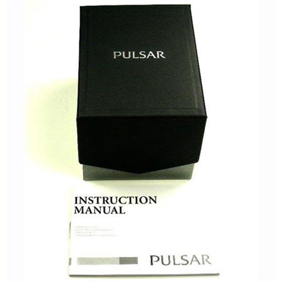 Pulsar Watch PXHA07 Mens w/Lumibrite Hands, Push Button Clasp,Easy Read w/Date