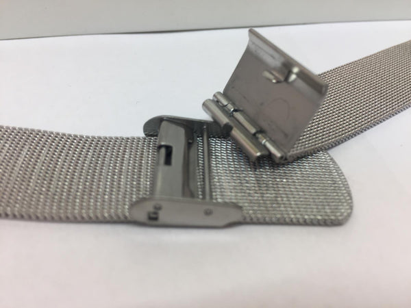Pulsar WatchBand/Bracelet 18mm All Steel Mesh Clip On. Fits Most Any 18mm Watch.
