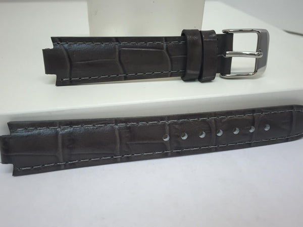 Pulsar WatchBand PJ2015 Ladies Dark Gray Leather  8mm Wide 16mm at Shoulder