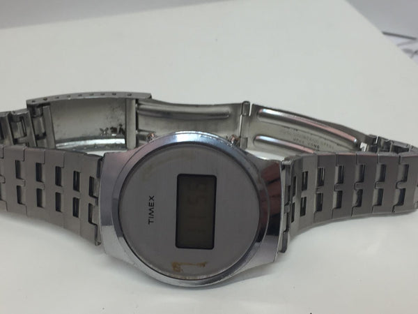 Timex Original Digital Watch Circa 1970.Used - Working. Features Date/Time/Light