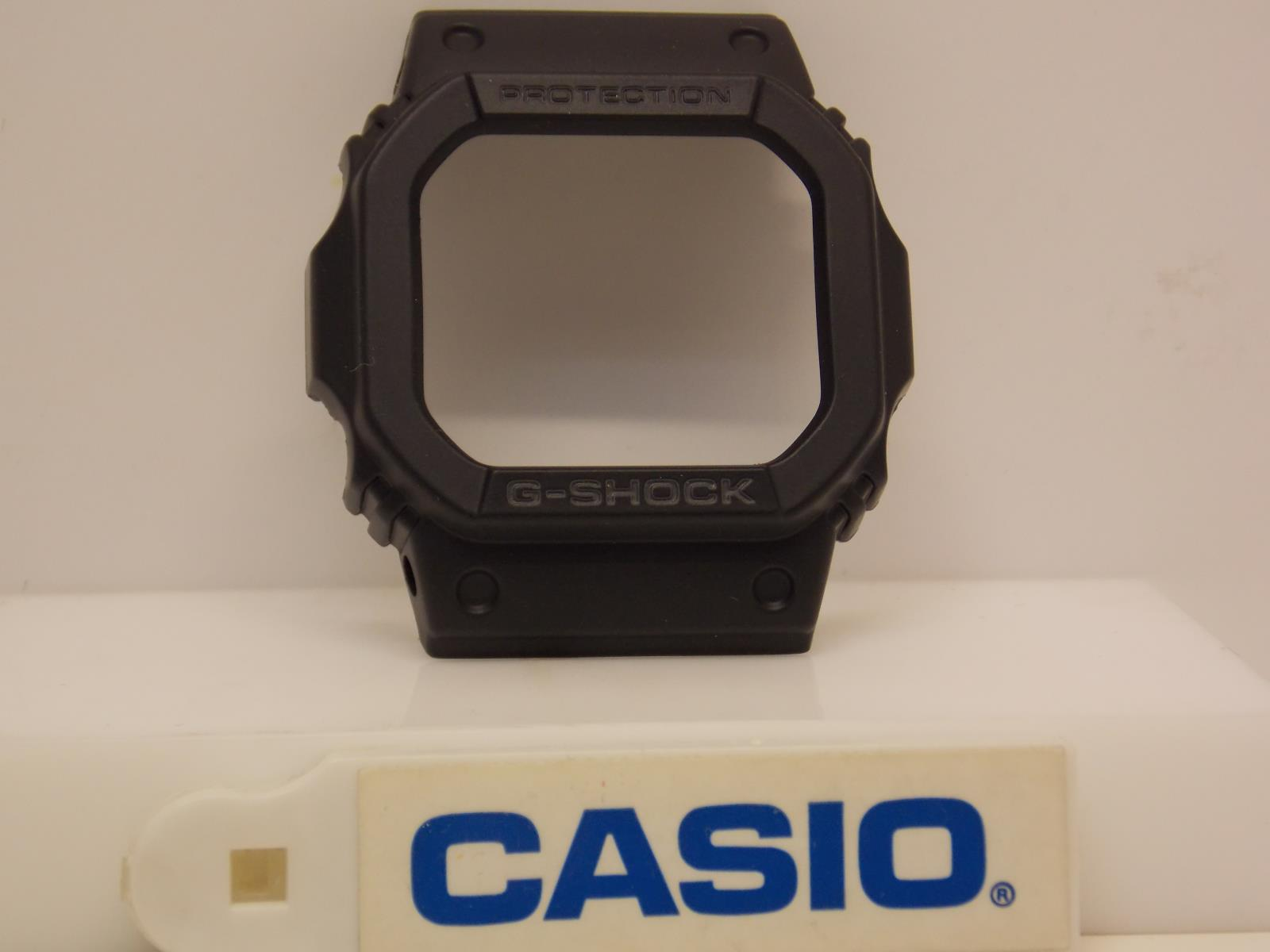 Casio Watch Parts Bezel/Shell GW-M5600, GW-M5610 All Black Gray Lettering.