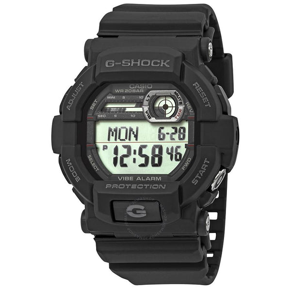 Casio GD-350 -1CR Black G-Shock W/Vibration Alarm.New w/Warranty/Instructions