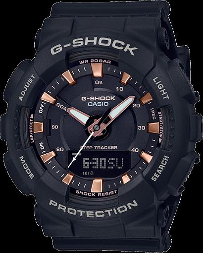 Casio GMA-S130PA-1ACR Step Tracker G-Shock. New w/Warranty/Instructions