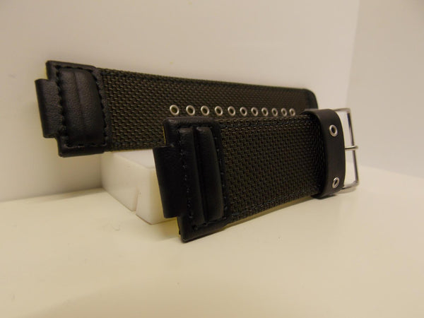 Casio Watchband Black Mesh/Leather/Yellow Back 16mm (30mm Shoulder) G-7900 MS-3