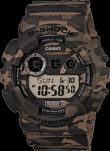 Casio GD-120 CM-5CR. G-Shock Military Camouflage. New. Original Box and Warranty