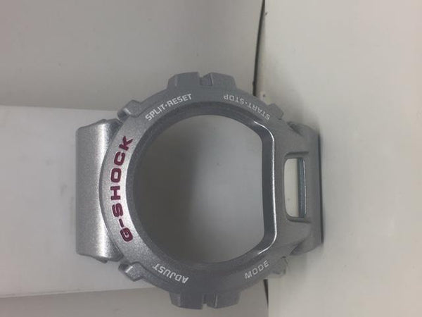 Casio Watch Parts Bezel/Shell DW-6900 CB-8 Silver Color w/ Red/White Letters.