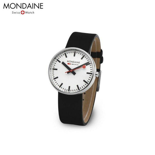 Mondaine Watch MSX.3511B.LB Featuring New Backlit Glowing Hands. Swiss Movement