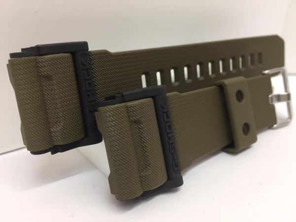 Casio Watchband GD-400 -9 Military Style Olive Green Resin Strap