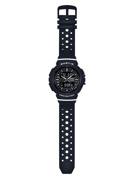 Casio Watchband BGA-240 Original Black Rubber Strap.