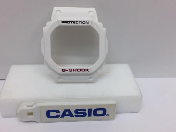 Casio Watch Parts Bezel/Shell GWX-5600 B-7 White With Black and Red Lettering