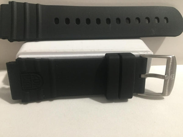 Luminox Band/Strap Rubber Navy Seals 0320  22mm Wide. Black Genuine Replacement