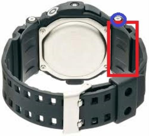 Casio Watchparts GD-350 Original Bottom Band Cover/Flap With Screws For GD350