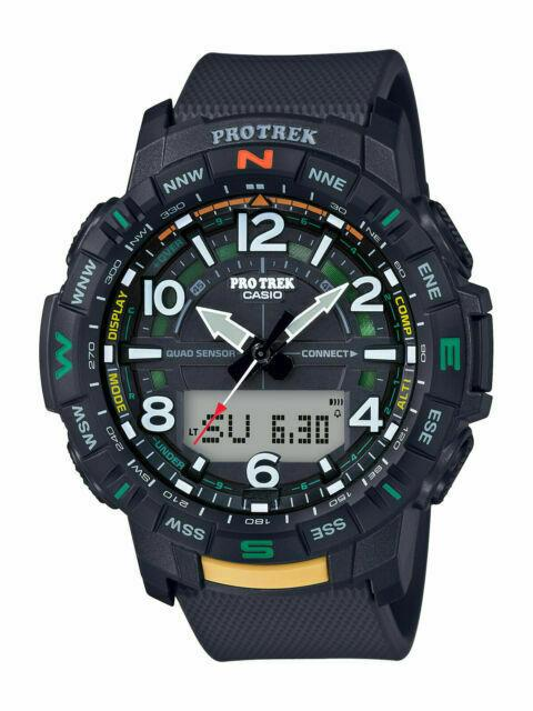 Casio PRO TREK PRT-B50-1.Quad Sensors:Therm/Alt Bar/Compass/StepCounter.W/BluTth