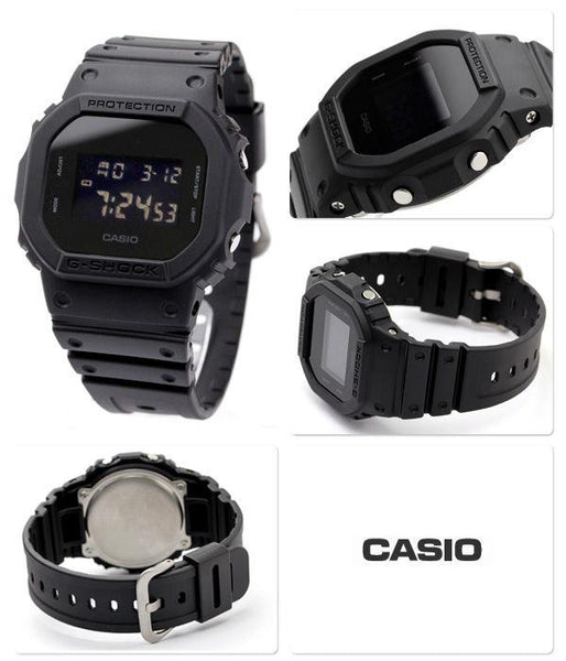 Casio G-shock Watch DW-5600BB-1CR. All Black Band/Case/Dial.