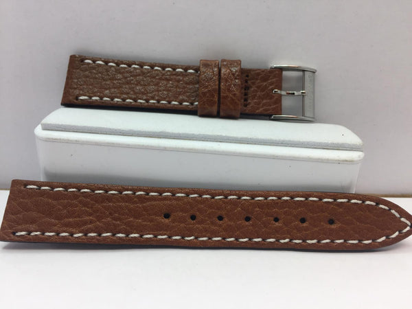 Swiss Army Original Watchband Women's 15mm Brown w/ Logo Buckle,Outline Stitched