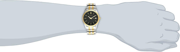 Pulsar Watch Mans Two Tone Stretch Band w/Date. Water resistant. Retails $99.50