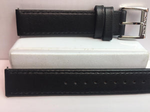 Mondaine Swiss Railways Watchband w/Ez Pins FE3116.20Q.5 16mm Wide Black Leather