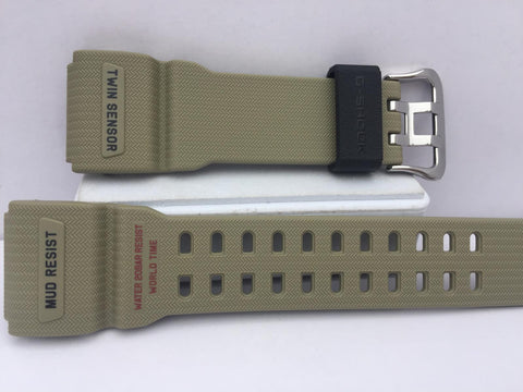 Casio Watchband GG-1000 Tan. Twin Sensor/Mud Resist Strap.